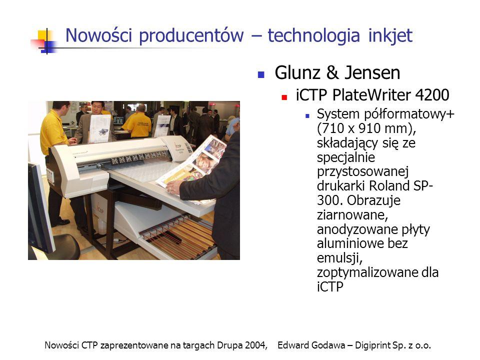Nowości producentów – technologia inkjet