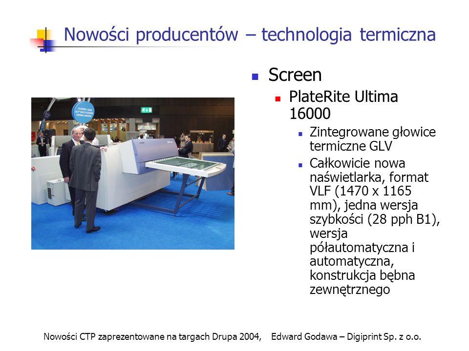Nowości producentów – technologia termiczna