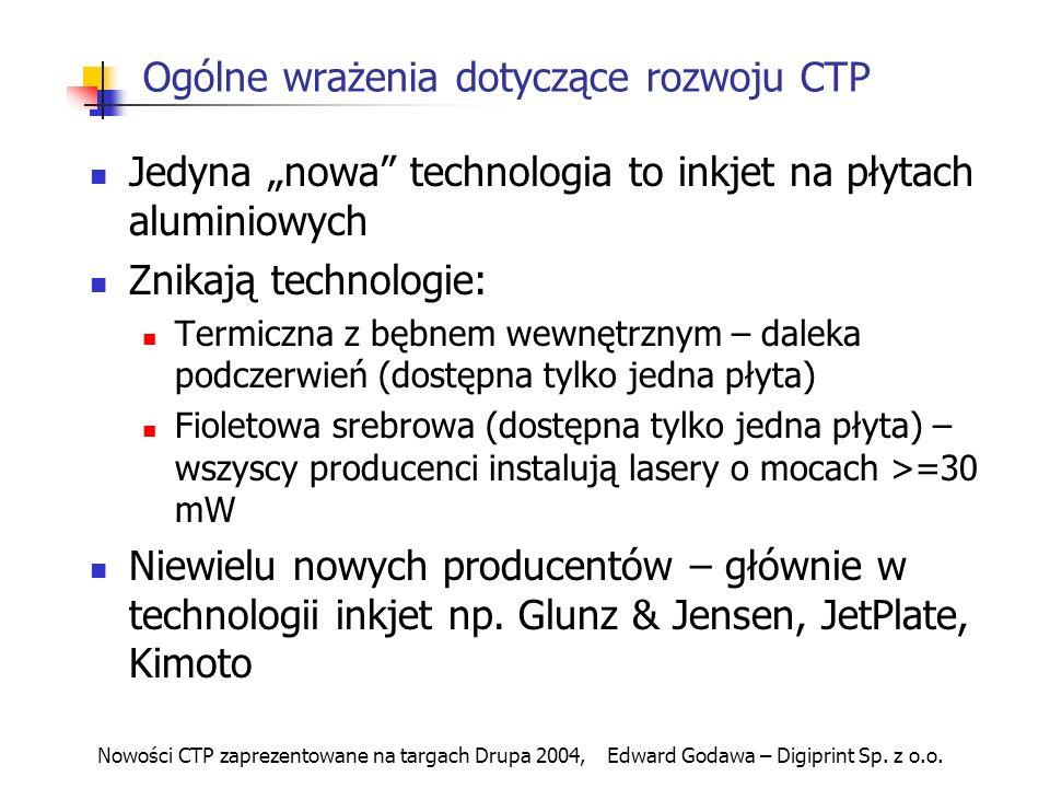 Ogólne wrażenia dotyczące rozwoju CTP