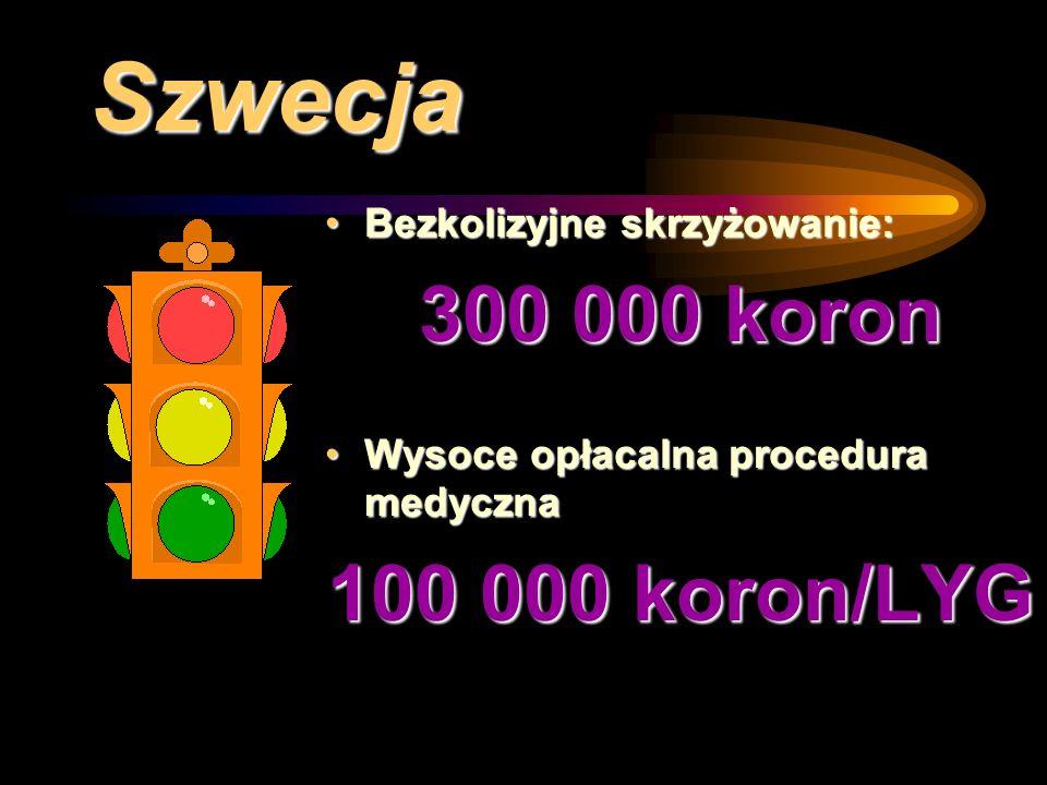 Szwecja 300 000 koron 100 000 koron/LYG Bezkolizyjne skrzyżowanie: