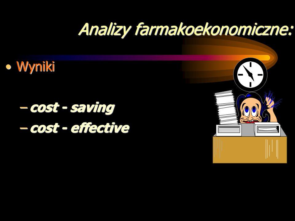 Analizy farmakoekonomiczne: