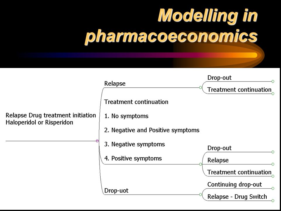 Modelling in pharmacoeconomics