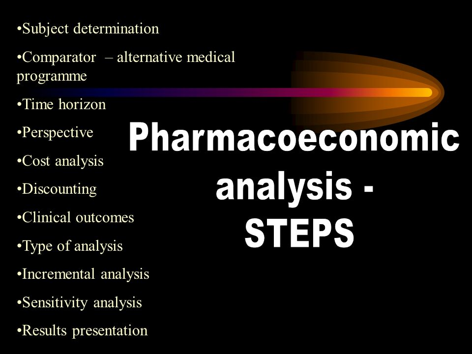 Pharmacoeconomic analysis - STEPS Subject determination