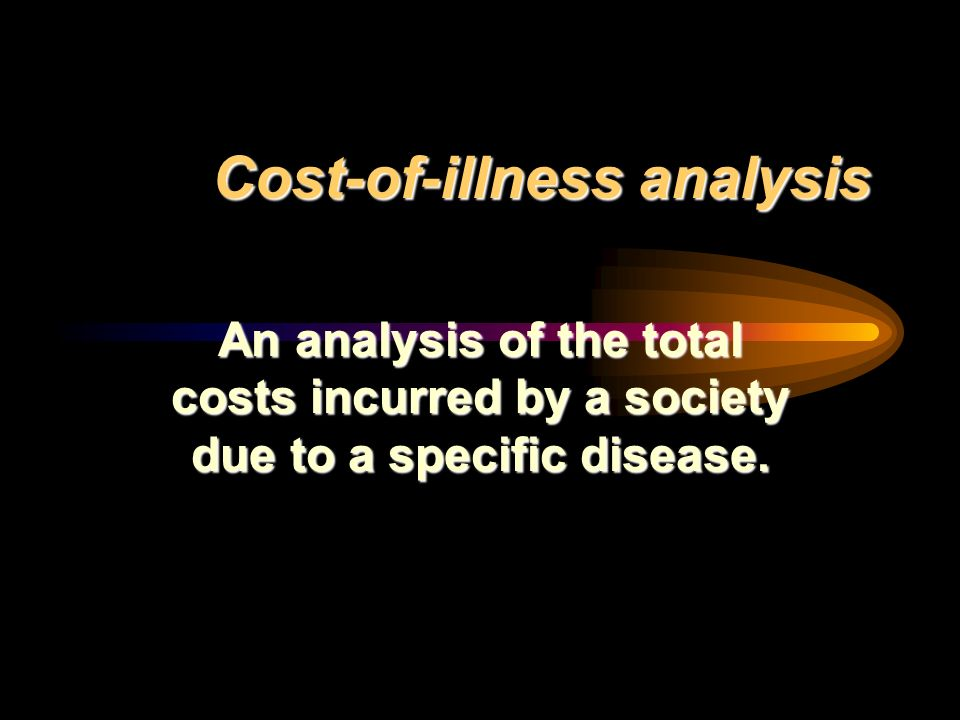 Cost-of-illness analysis