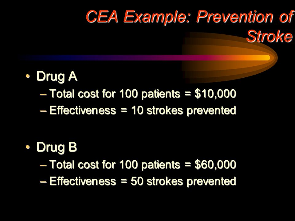 CEA Example: Prevention of Stroke
