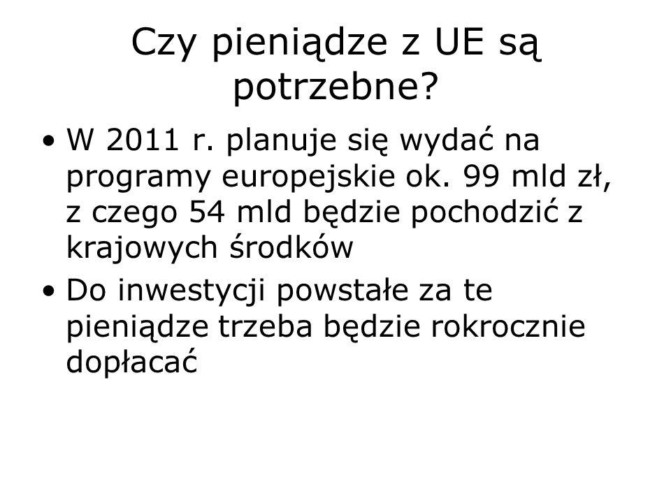 Czy pieniądze z UE są potrzebne