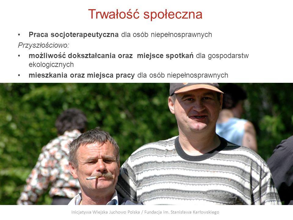 Trwałość społeczna Praca socjoterapeutyczna dla osób niepełnosprawnych