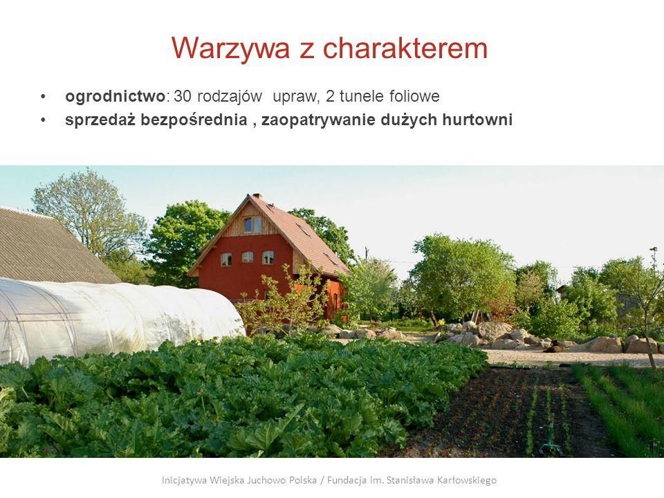 Warzywa z charakterem ogrodnictwo: 30 rodzajów upraw, 2 tunele foliowe