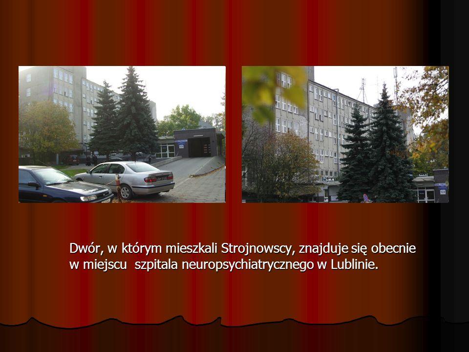 Dwór, w którym mieszkali Strojnowscy, znajduje się obecnie w miejscu szpitala neuropsychiatrycznego w Lublinie.