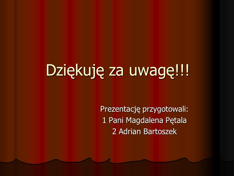Prezentację przygotowali: 1 Pani Magdalena Pętala 2 Adrian Bartoszek