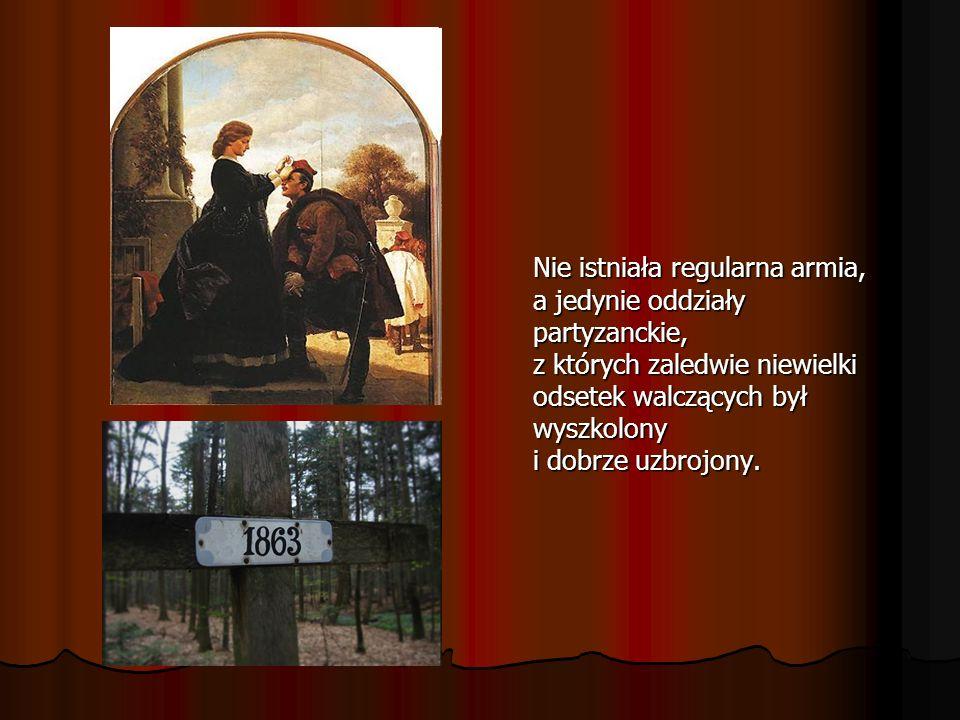 Nie istniała regularna armia, a jedynie oddziały partyzanckie, z których zaledwie niewielki odsetek walczących był wyszkolony i dobrze uzbrojony.