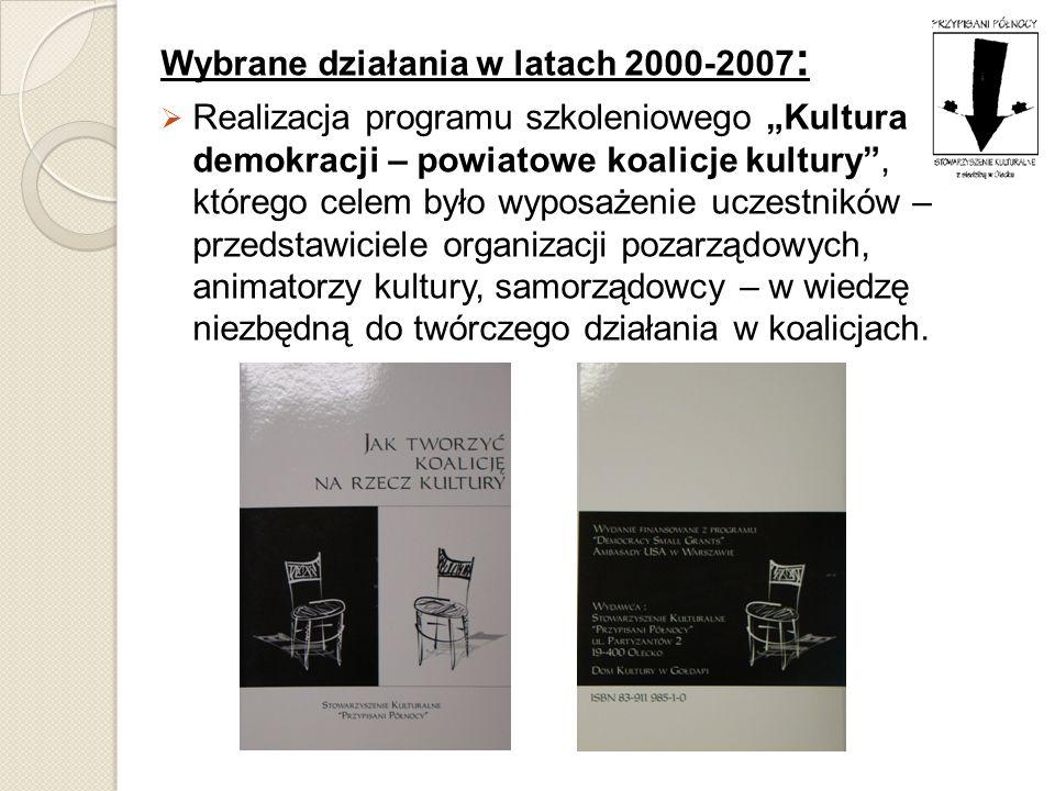 Wybrane działania w latach 2000-2007: