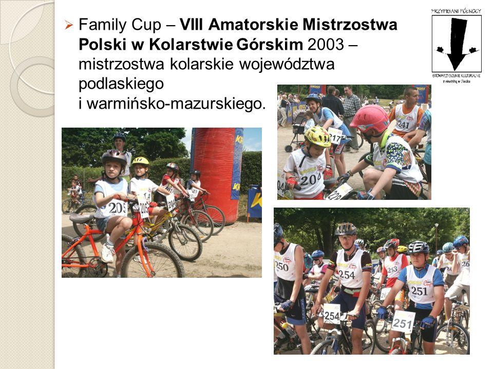 Family Cup – VIII Amatorskie Mistrzostwa Polski w Kolarstwie Górskim 2003 – mistrzostwa kolarskie województwa podlaskiego i warmińsko-mazurskiego.