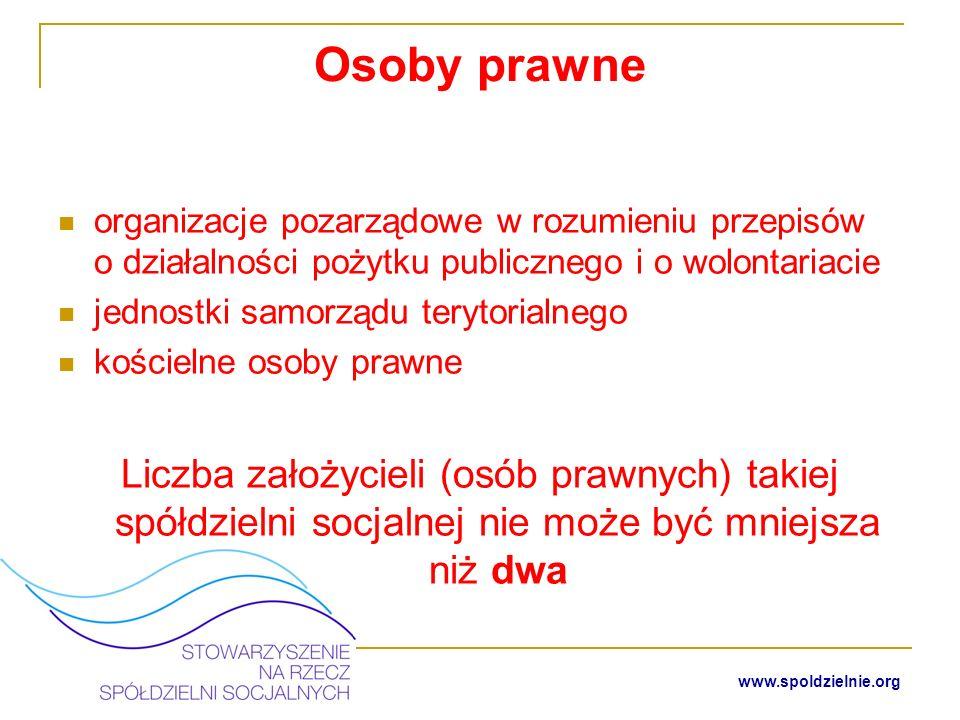 Osoby prawneorganizacje pozarządowe w rozumieniu przepisów o działalności pożytku publicznego i o wolontariacie.