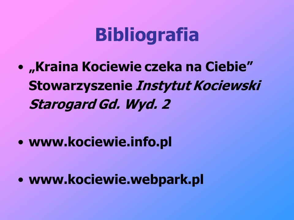 """Bibliografia """"Kraina Kociewie czeka na Ciebie"""