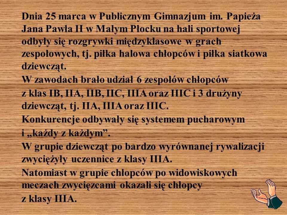 Dnia 25 marca w Publicznym Gimnazjum im