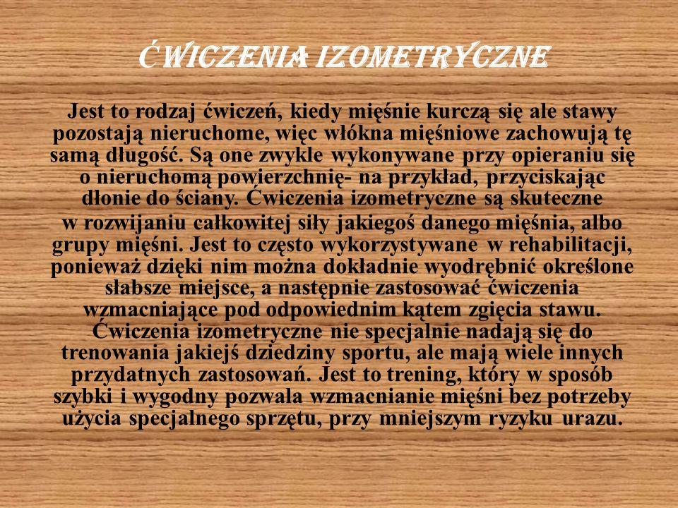 Ćwiczenia izometryczne