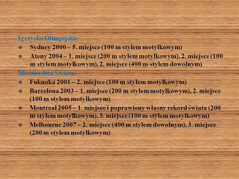 Igrzyska OlimpijskieSydney 2000 – 5. miejsce (100 m stylem motylkowym)