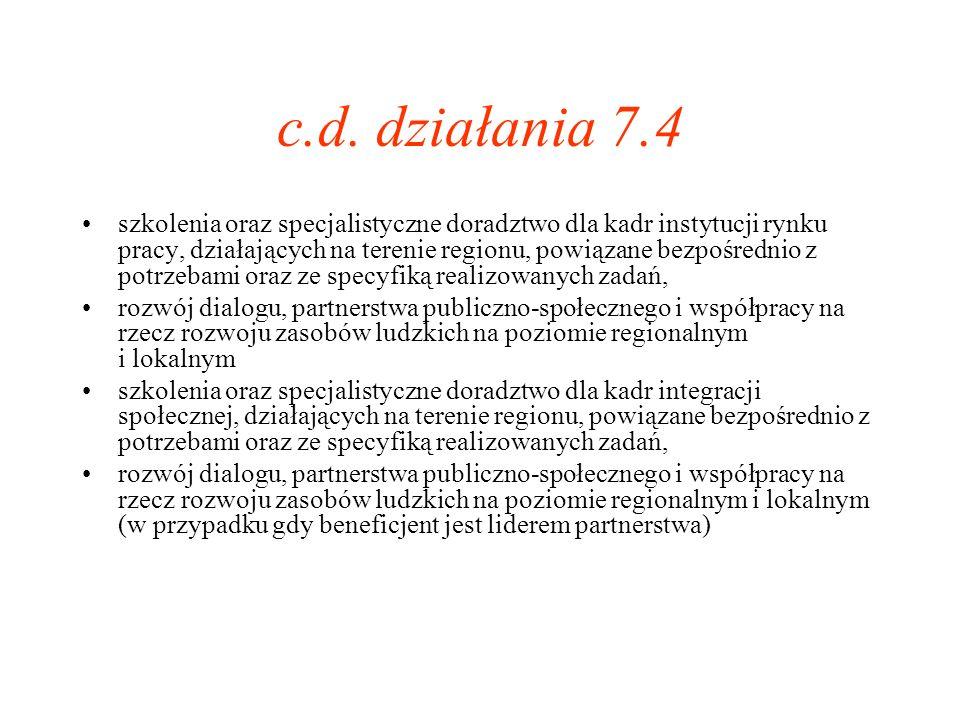 c.d. działania 7.4