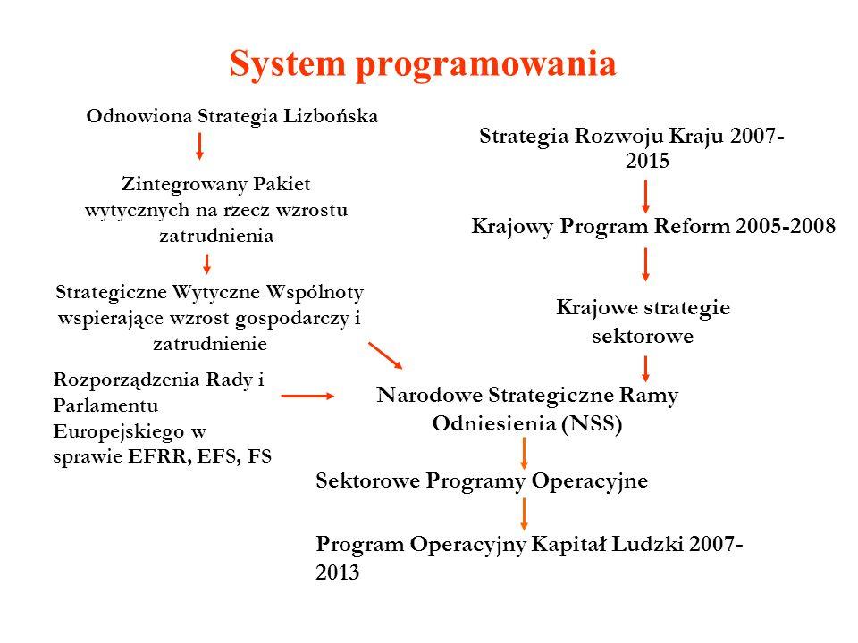 System programowania Strategia Rozwoju Kraju 2007-2015