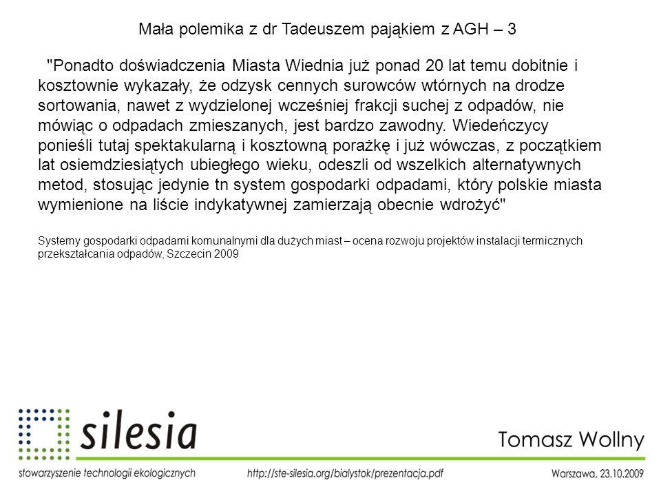 Mała polemika z dr Tadeuszem pająkiem z AGH – 3