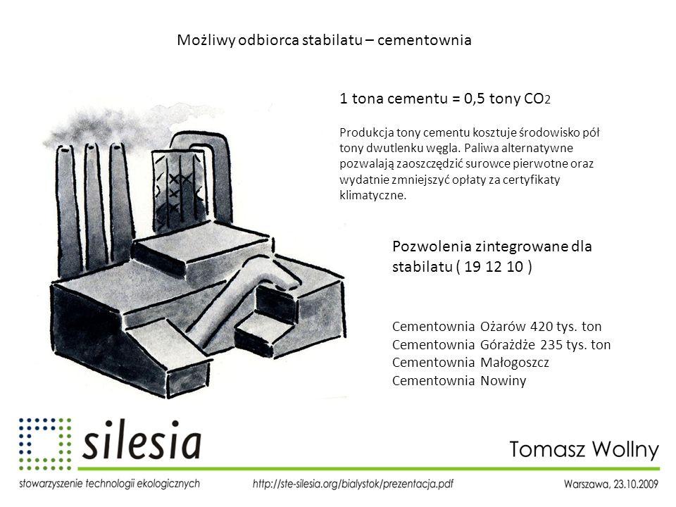 Możliwy odbiorca stabilatu – cementownia