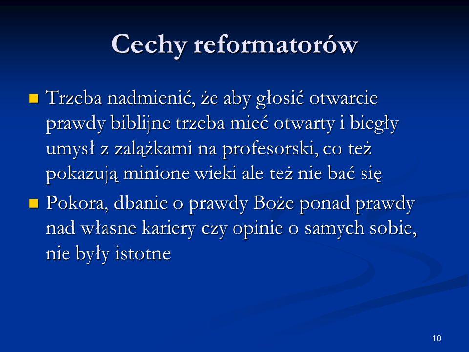 Cechy reformatorów