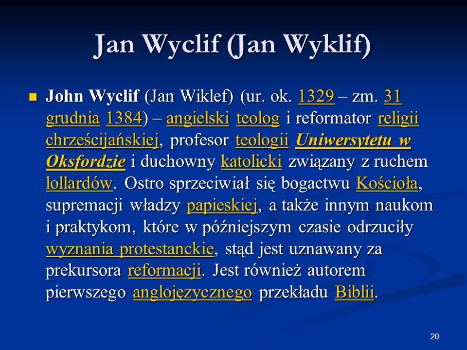 Jan Wyclif (Jan Wyklif)