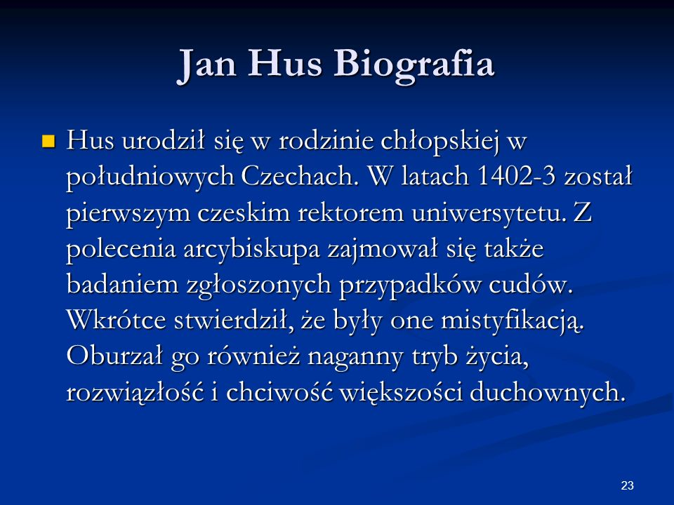 Jan Hus Biografia