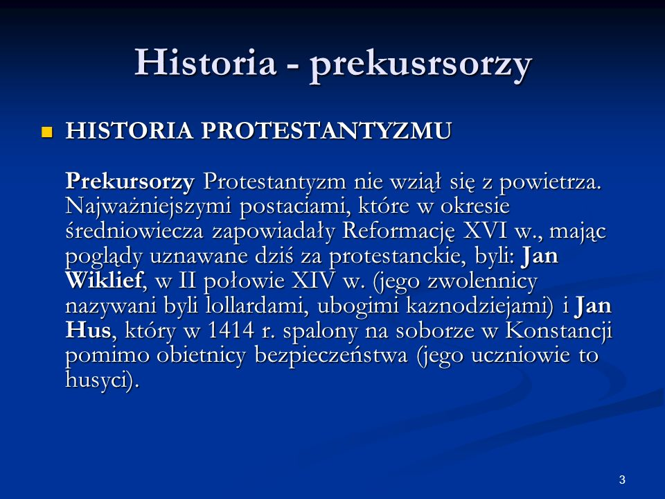 Historia - prekusrsorzy