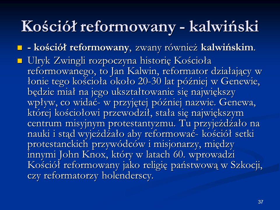 Kościół reformowany - kalwiński