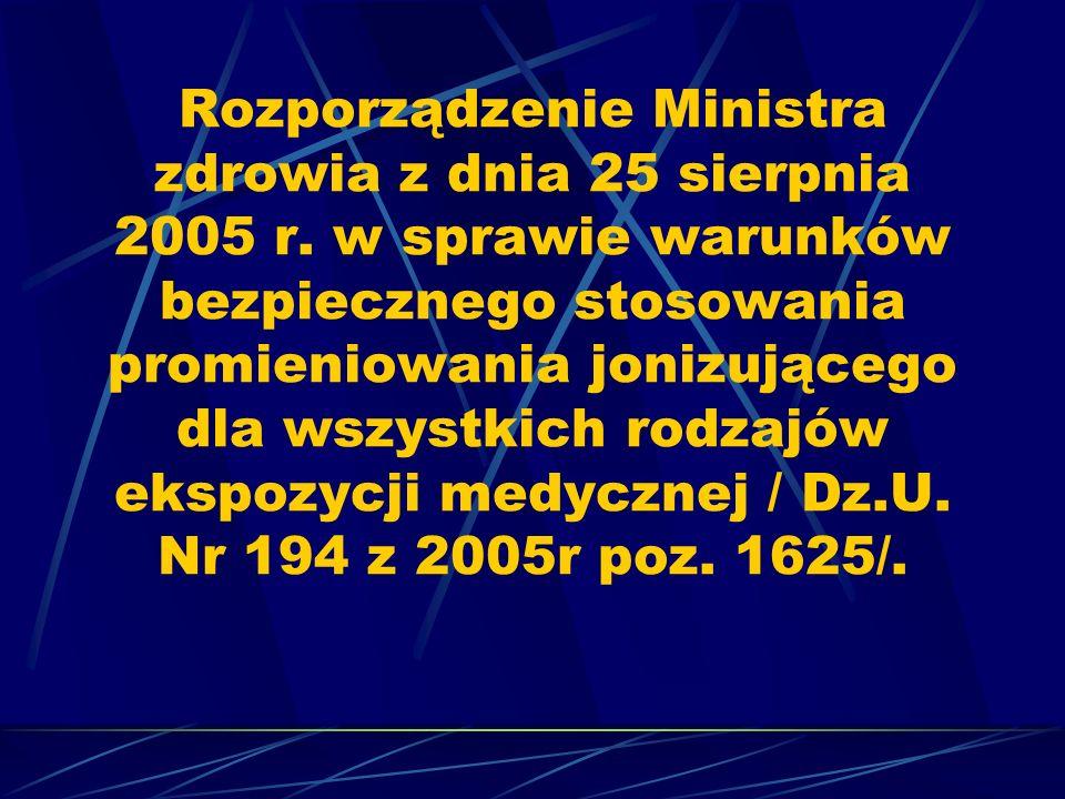 Rozporządzenie Ministra zdrowia z dnia 25 sierpnia 2005 r