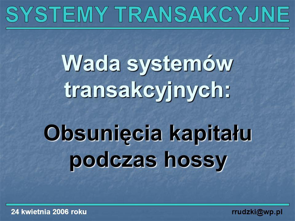 Wada systemów transakcyjnych: