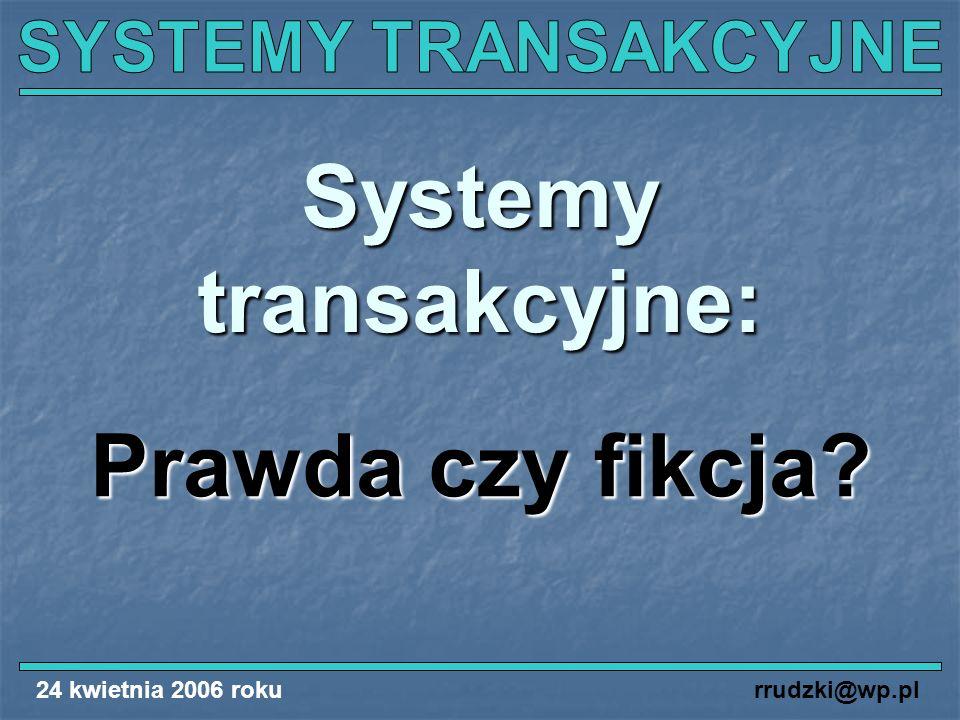 Systemy transakcyjne: