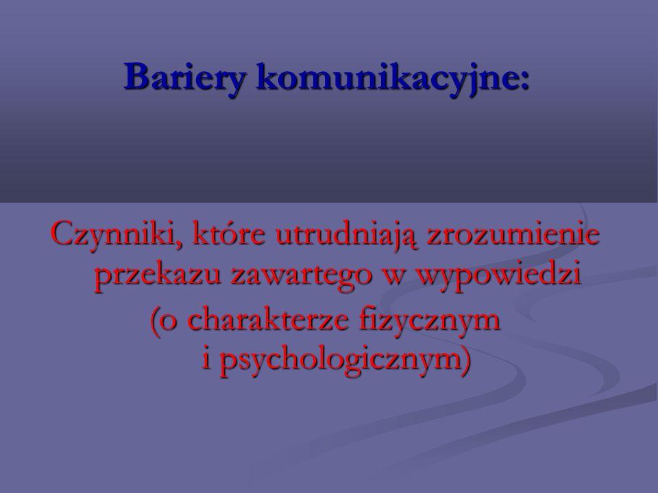 Bariery komunikacyjne: