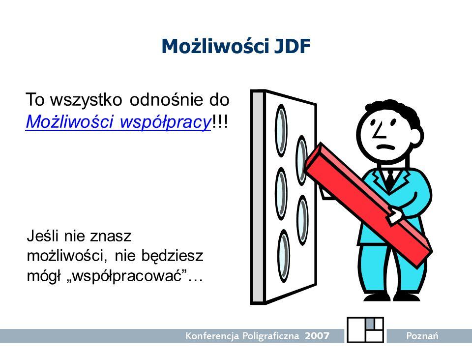 Możliwości JDF To wszystko odnośnie do Możliwości współpracy!!!