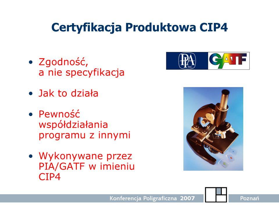 Certyfikacja Produktowa CIP4