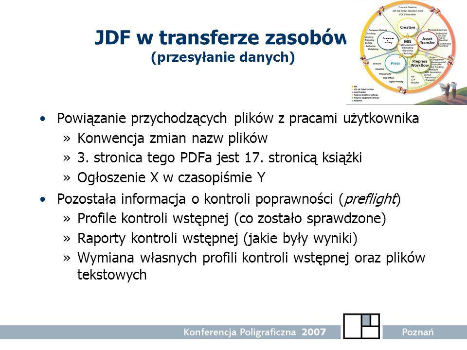 JDF w transferze zasobów (przesyłanie danych)