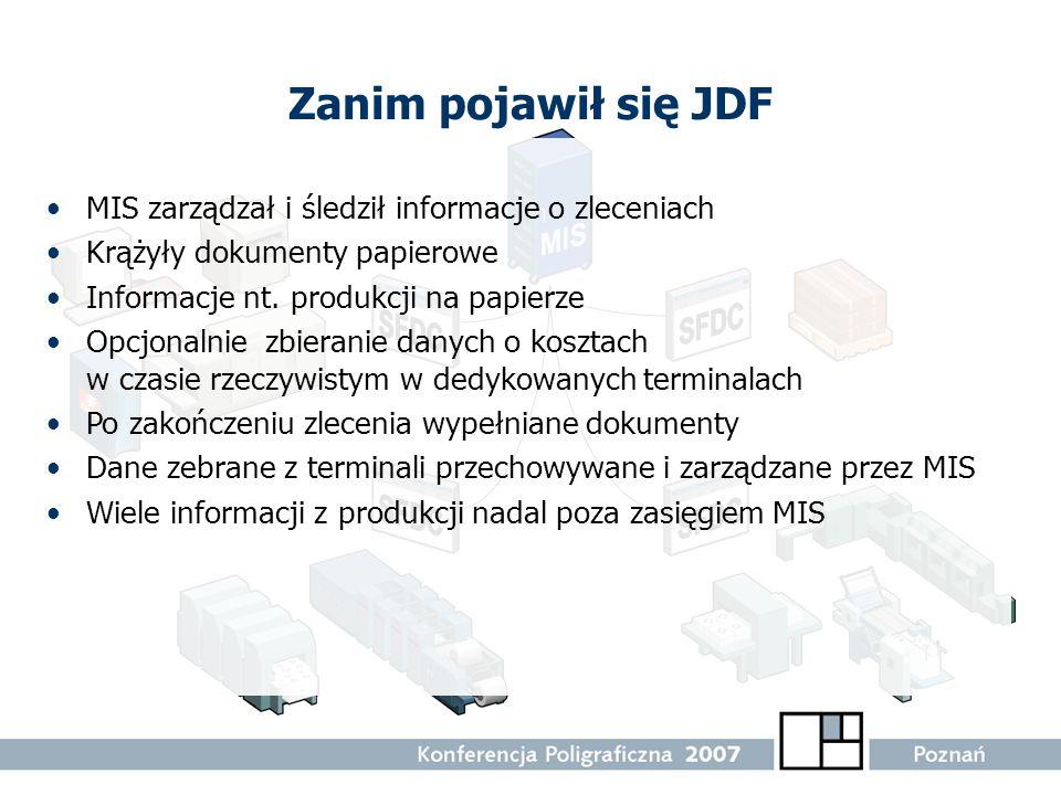 Zanim pojawił się JDF MIS zarządzał i śledził informacje o zleceniach