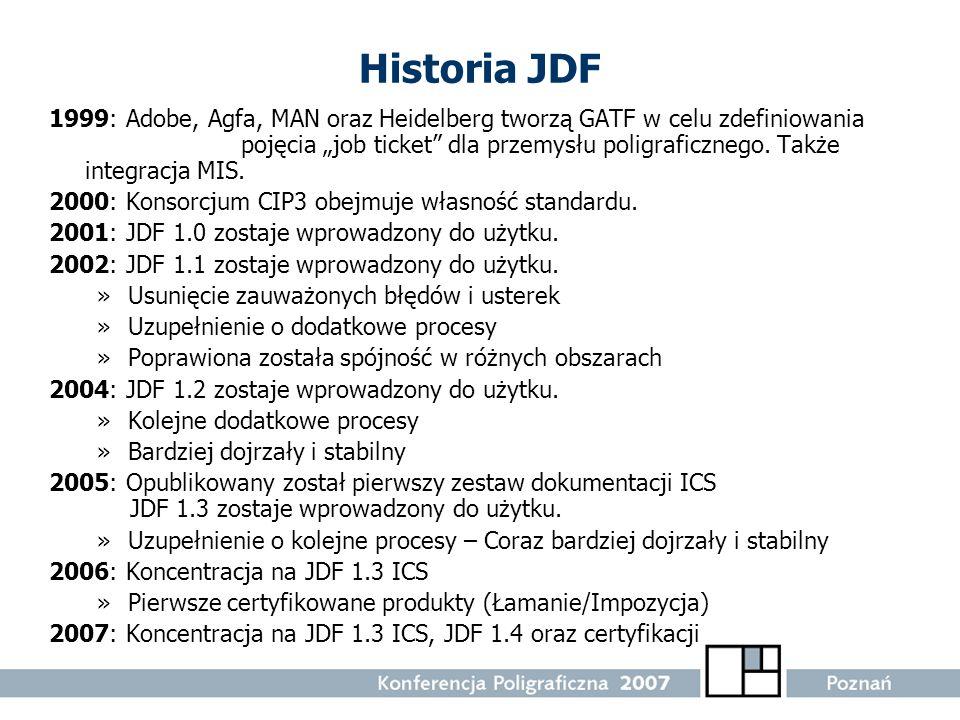Historia JDF
