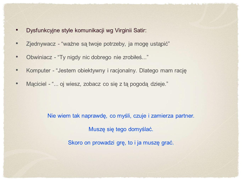 Dysfunkcyjne style komunikacji wg Virginii Satir: