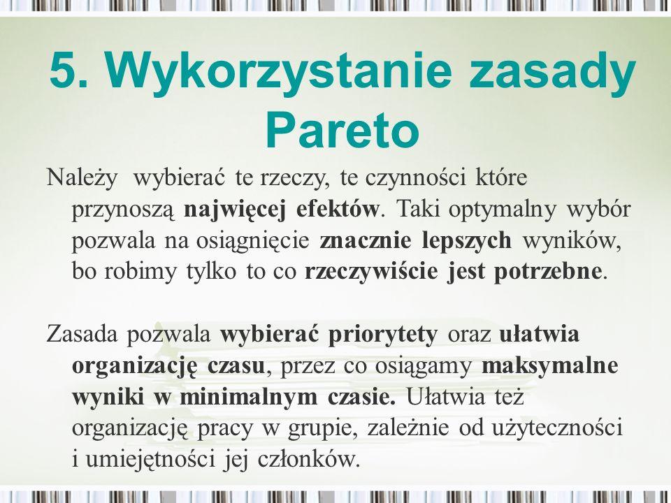 5. Wykorzystanie zasady Pareto