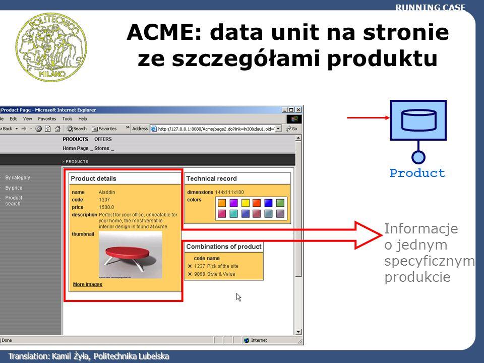 ACME: data unit na stronie ze szczegółami produktu