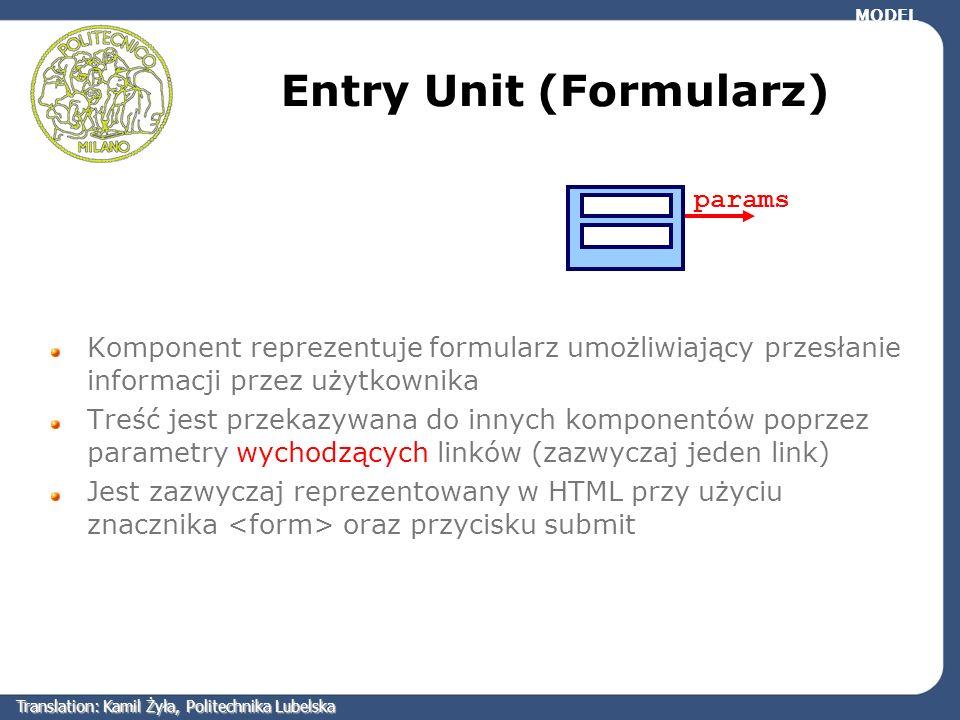 Entry Unit (Formularz)