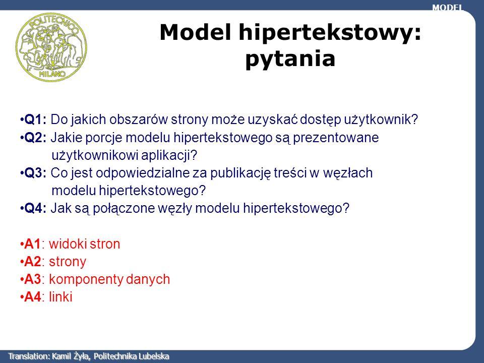 Model hipertekstowy: pytania