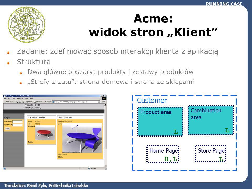 """Acme: widok stron """"Klient"""