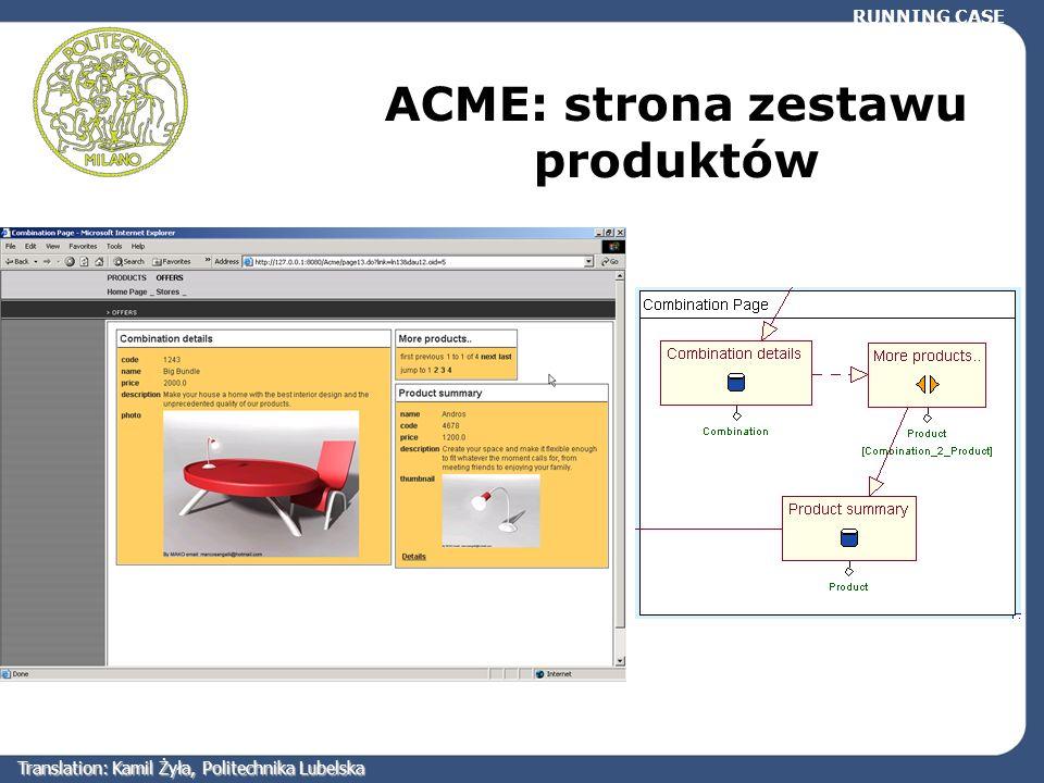 ACME: strona zestawu produktów