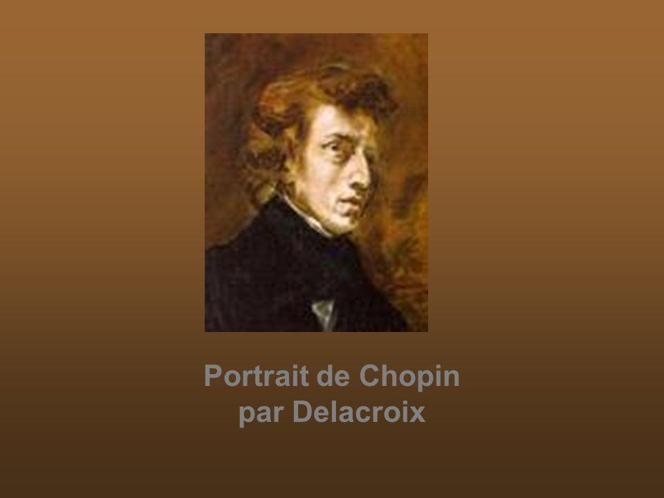 Portrait de Chopin par Delacroix