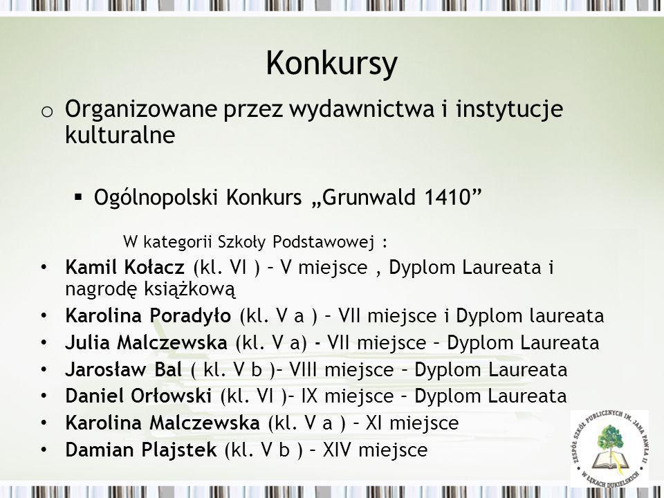 Konkursy Organizowane przez wydawnictwa i instytucje kulturalne