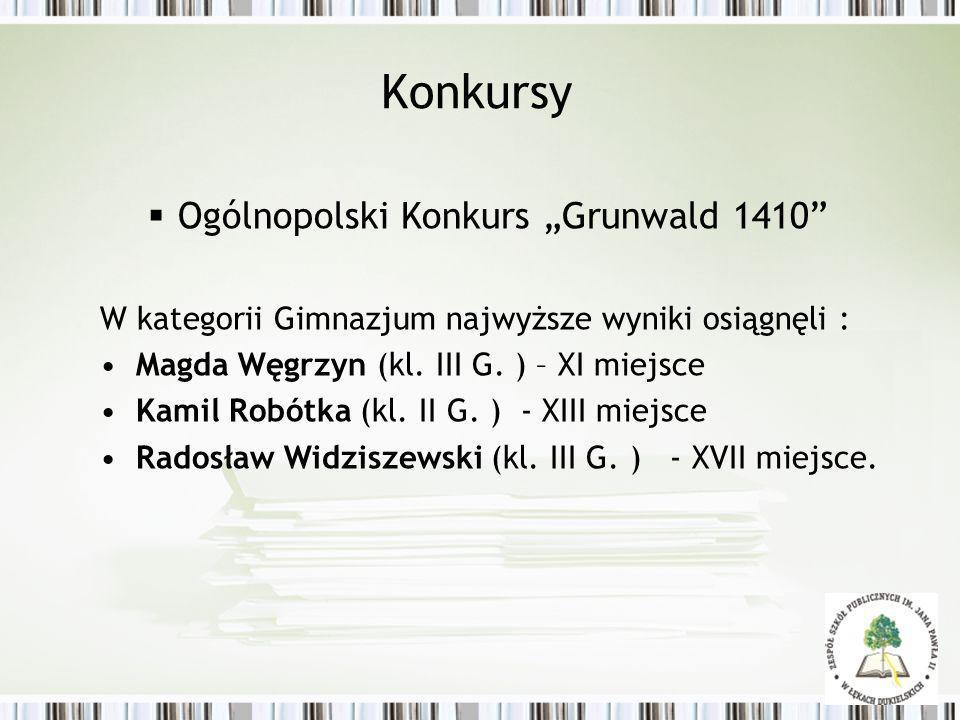 """Konkursy Ogólnopolski Konkurs """"Grunwald 1410"""